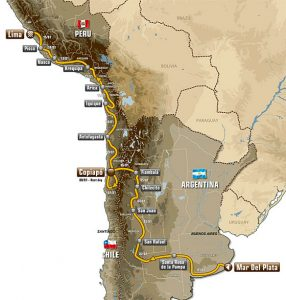 Dakar Pérou Argentine Chili