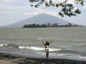 Plage à Ometepe