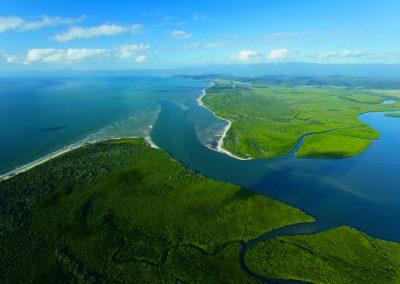 australie-cape-tribulation-daintree-wilderness-lodge-daintree-aerial